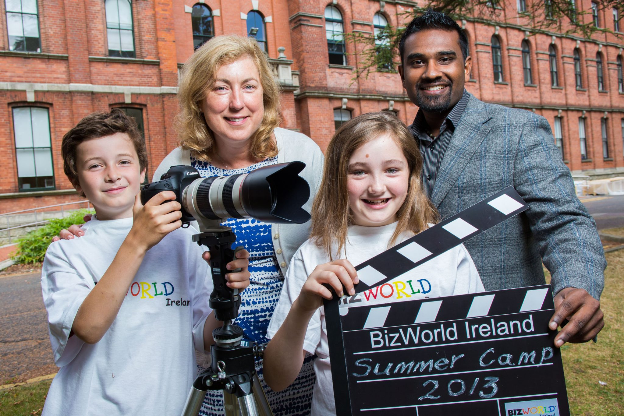 Doing the Business this summer!…18-7-13  Bizworld Ireland is hosting summer camps at Smurfit Business School this summer. Bizworld workshops usually take place in schools introducing money management, critical thinking and enterprise skills to children aged 10-13. Education is seen traditionally as equipping students with the necessary skills and knowledge to complete a CV in order to get a job but Bizworld is sowing the seeds in these young minds to consider that they may be creating employment in the future, taking in CV's and giving out jobs…sowing the seeds so that they can grow their future.  Pictured at a photocell to announce the workshops were; Government Adviser as part of the Entrepreneurship Forum creating a National Policy on Entrepreneurship, Daniel Ramamoorthy, and Orla Nugent, MBA Director Smurfit Business school with participating students Daniel Fitzgerald (10 from Blackrock, and Leah Murray McArdle (11) from Sandyford. Further information: Contact CEO Fiona.mckeon@bizworldireland.ie       www.bizworldireland.ie ph. 086 2209750  PIC. KEITH ARKINS PHOTOGRAPHY