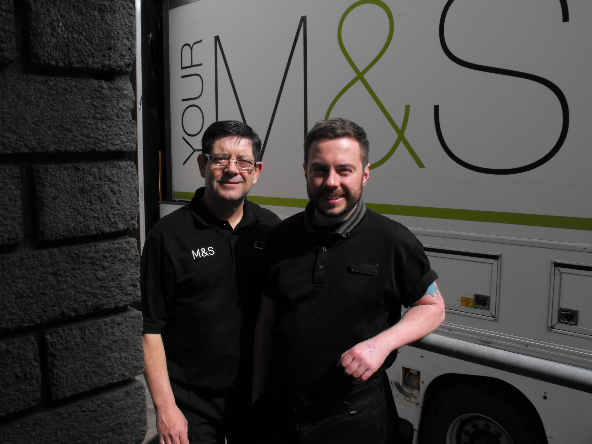 Ready-for-Work-Participant-Martin-with-Buddy-Paul-Dublin-Mary-Street-Loading-Bay-April-2016