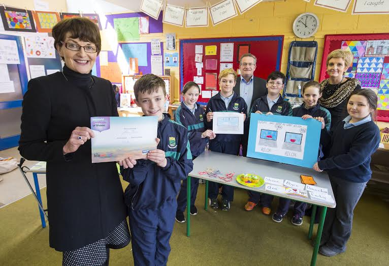 07/03/2016  BizWorld Ireland partner with Bank of Ireland to deliver entrepreneurial workshops in primary schools nationwide      250 workshops in year one - doubling to 500 in year two     Over 100 Bank of Ireland staff members trained as tutors      Equipping this generation of primary school children for the jobs of tomorrow.  Pictured at the Bank of Ireland BizWorld Ireland workshop in Scoil Asicus, Strandhill, Co. Sligo are 5th class students, left to right, Donncha Beirne, aged 11, Zoe Parkinson, aged 10, Bryce Scales, aged 11, Shane Ryan, aged 11, Emily Mitchell, aged 11, and Ava Griffin, aged 10, along with principal Anne Ruane, John Keegan, Director of Distribution Channels, Bank of Ireland, and Tara Rodgers, Commercial Manager, Bank of Ireland, Stephen St, Sligo.  BizWorld Ireland has (5 February, 2016) announced a new partnership with Bank of Ireland which will see entrepreneurial workshops rolled out to primary schools nationwide.  The Bank of Ireland Bizworld workshops, which include a DragonÕs Den type competition, inspire and empower children, aged 10-13 (5th class) to learn about money management, critical thinking and enterprise in a fun and creative way.   To date, over 100 Bank of Ireland staff members around the country have been trained as tutors by BizWorld Ireland, enabling them to run 2-day workshops with primary students in their schools.  Workshops feature everything from brainstorming to business development and finally a DragonÕs Den style pitch of the business. Through Bank of IrelandÕs involvement, the partnership aims to have workshops running in 250 schools by year one, doubling to 500 in its second year.  Bank of Ireland BizWorld 2-day workshops are free to primary schools and require very little involvement from the class teacher. The responsibility for the start, middle and completion of the workshop lies with the Bank of Ireland trained tutor. The workshop comes to life on day two when a member of the local Bank of Ireland branch 